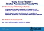 quality dossier section 3 finished pharmaceutical product fpp2