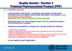 quality dossier section 3 finished pharmaceutical product fpp26