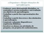 1 organizar e dirigir situa es de aprendizagem