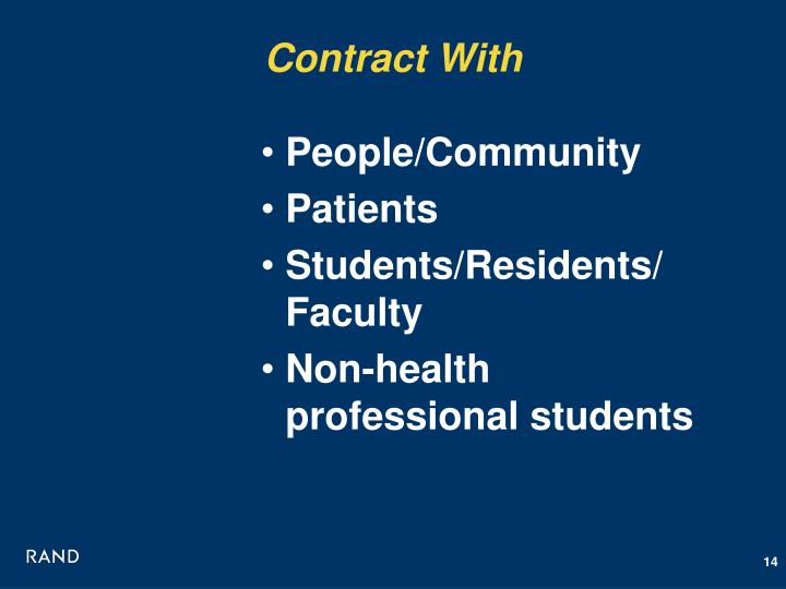 Contract With