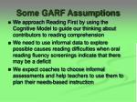 some garf assumptions