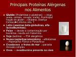 principais prote nas al rgenas nos alimentos