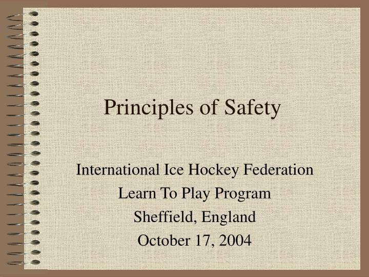 principles of safety n.
