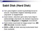 sabit disk hard disk