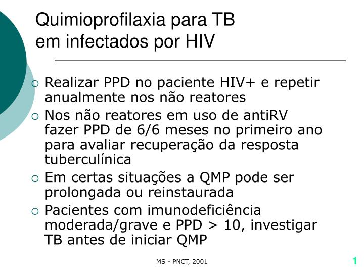 Quimioprofilaxia para TB