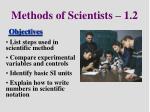 methods of scientists 1 2