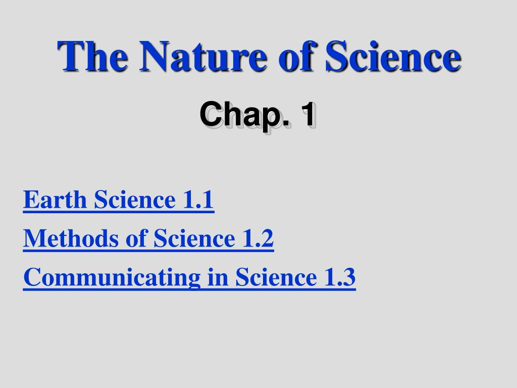 the nature of science l.