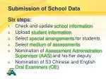 submission of school data