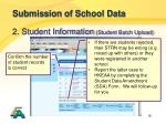 submission of school data11