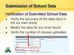 submission of school data42