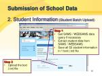 submission of school data9