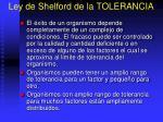 ley de shelford de la tolerancia