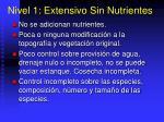 nivel 1 extensivo sin nutrientes