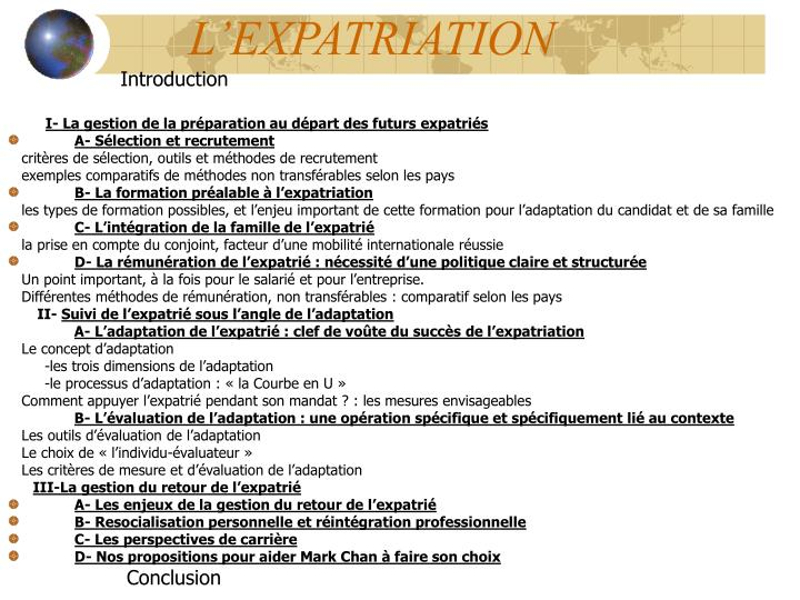 l expatriation n.
