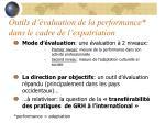 outils d valuation de la performance dans le cadre de l expatriation