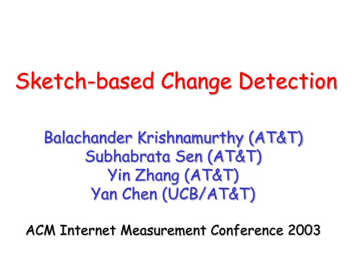 sketch based change detection n.