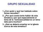 grupo sexualidad