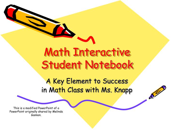 math interactive student notebook n.