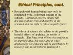 ethical principles cont