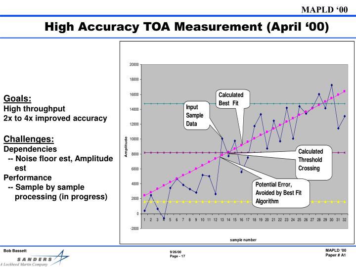 High Accuracy TOA Measurement (April '00)