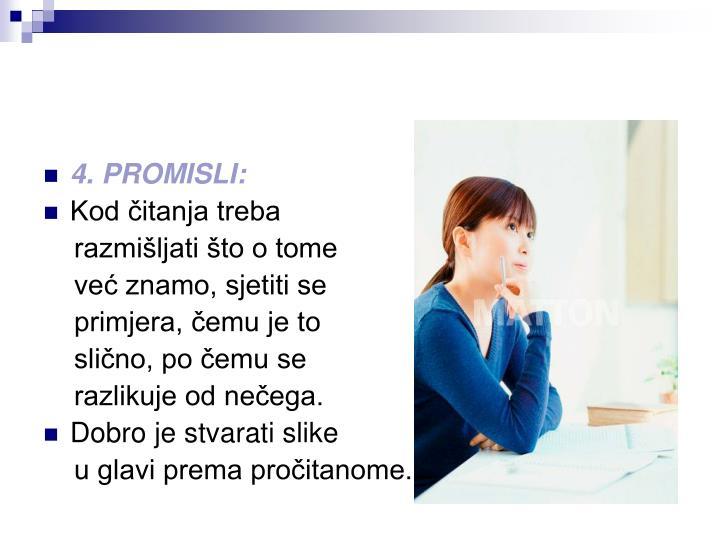 4. PROMISLI:
