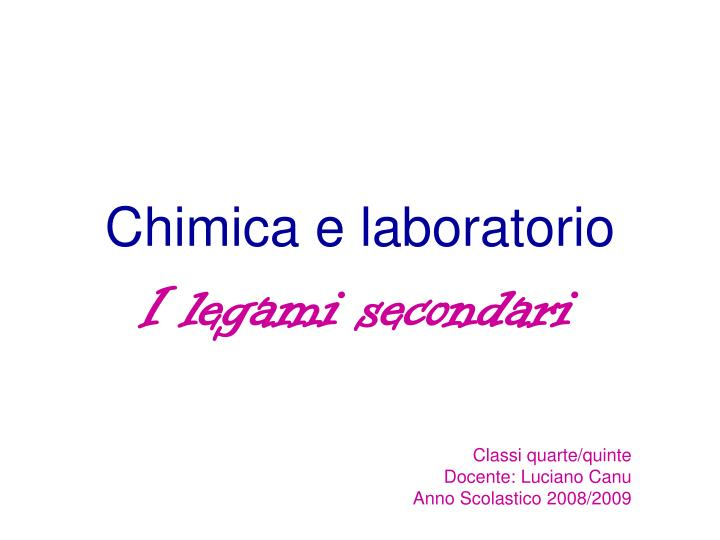 chimica e laboratorio n.
