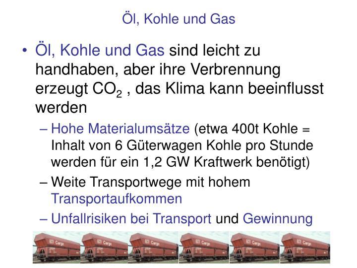 Öl, Kohle und Gas