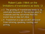 robert lado 1964 on the limitations of translations as tests 3