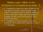 robert lado 1964 on the limitations of translations as tests 4