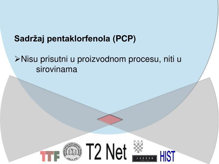 Sadržaj pentaklorfenola