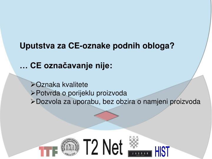 Uputstva za CE-oznake podnih obloga?