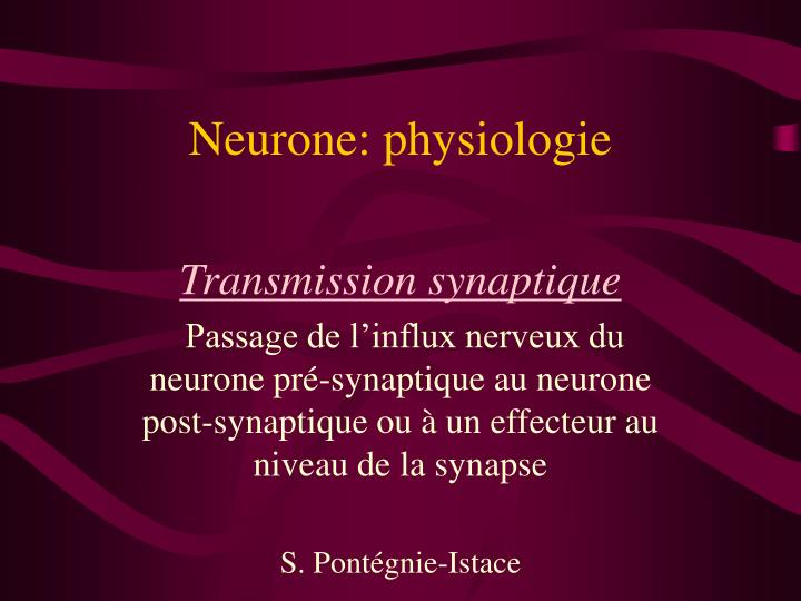 neurone physiologie n.