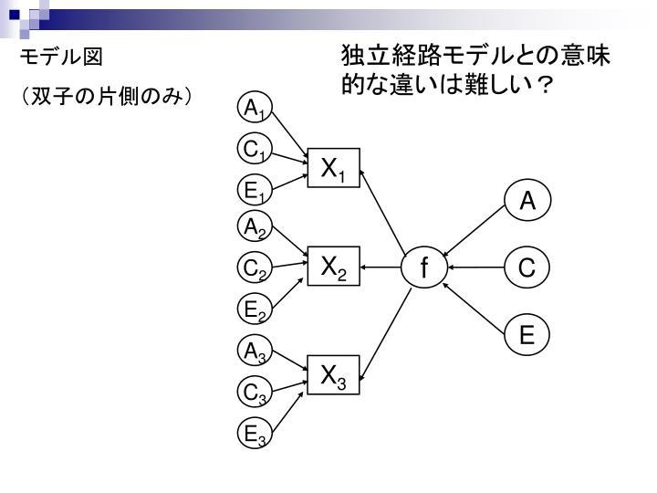 独立経路モデルとの意味的な違いは難しい?
