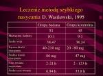 leczenie metod szybkiego nasycania d wasilewski 1995