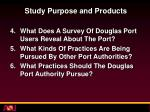 study purpose and products1