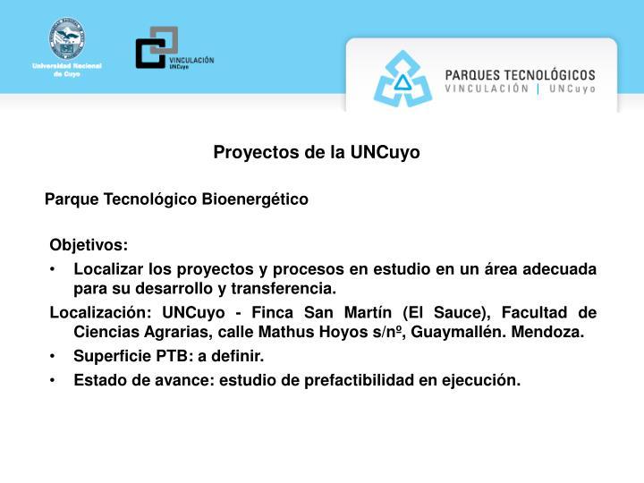 Proyectos de la UNCuyo