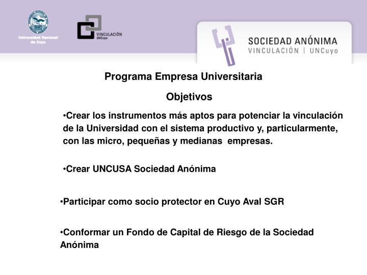 Programa Empresa Universitaria