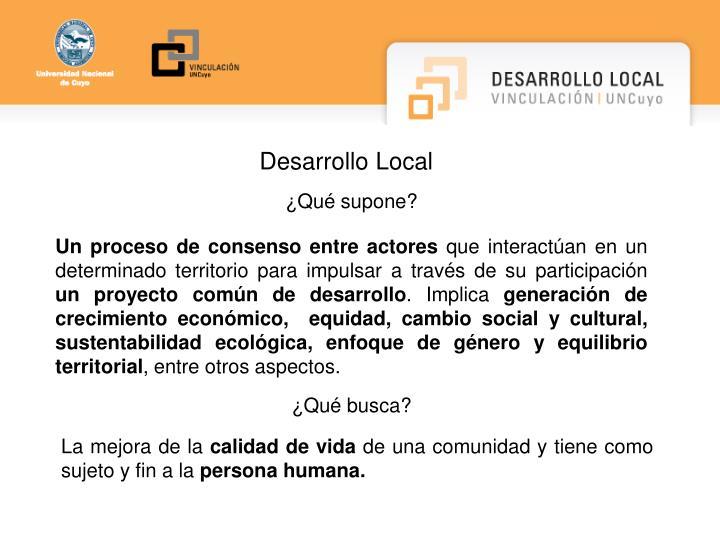 Desarrollo Local