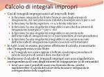 calcolo di integrali impropri