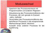 moduswechsel