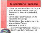 suspendierte prozesse