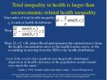 total inequality in health is larger than socioeconomic related health inequality