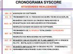 cronograma syscore