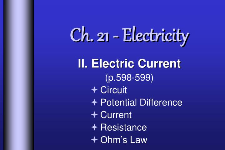 ch 21 electricity n.