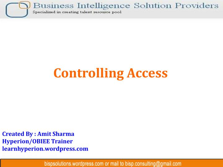 controlling access n.