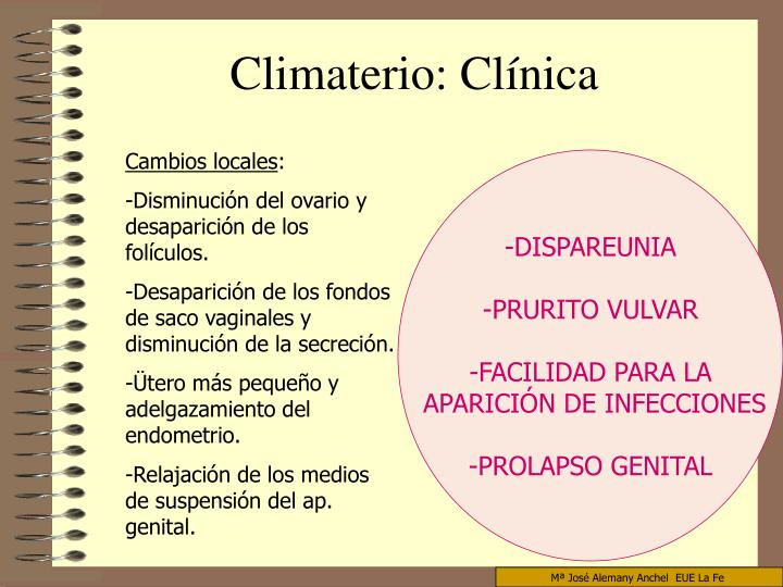 Climaterio: Clínica