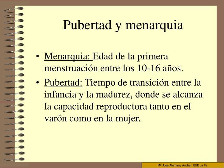 Menarquia: