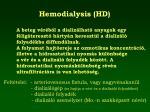 hemodialysis hd