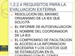 1 2 2 4 requisitos para la evaluacion externa
