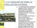 1 2 2 4 requisitos para la evaluacion externa1